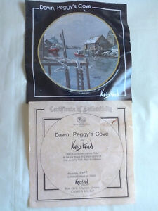 """Dawn, Peggy's Cove"" 1985 Commemorative Plate/Framed London Ontario image 3"