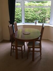 Teak Dining Table & Six Chairs