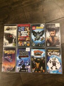 PSP games $10 each or $60 for all