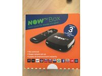 BNEW NOW TV BOX WITH 3 MNTH entertainment pass