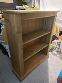 Free Pine Bookcase DUE TO BE COLLECTED ON 21/01