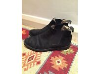 Hush Puppies black suede Chelsea boots. Size 7