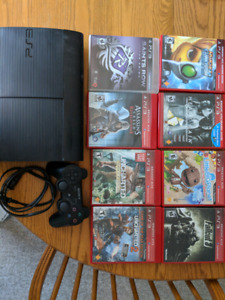 PS3, 8 games, 1 controller
