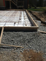 excavation and concrete foundation