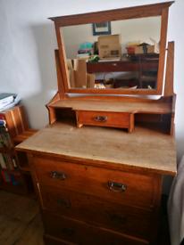Beautiful wooden antique dresser