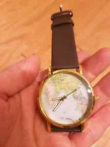 World map watch  (battery working) Kitchener / Waterloo Kitchener Area image 1