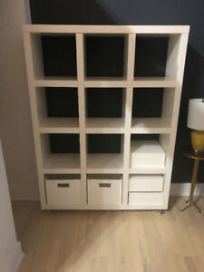 West Elm Rolling Storage Shelving (3x4) - $150