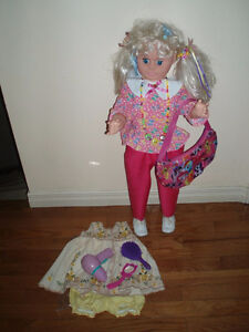 "30"" and 18"" Dolls, Dora Doll  / Outdoor Chair w/ Umbrella"