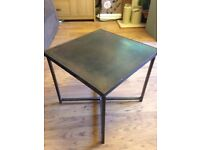 Heavy square metal tables