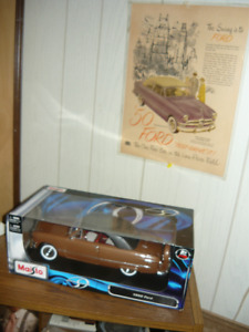 MIB 1:18 die cast 1950 Ford & laminated ad P/U only Smithville