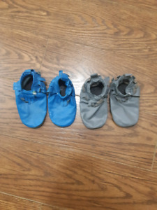 Two pairs of size large Mally Mocs