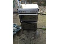 Stoves 61GDO gas double oven cooker ( needs new outer glass bottom oven door ).