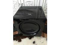 300 Watt subwoofer and pair speakers