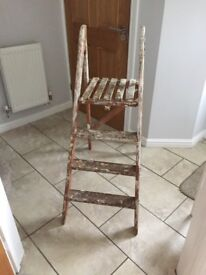 Wooden vintage ladder