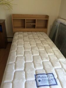 Twin beds and mattresses