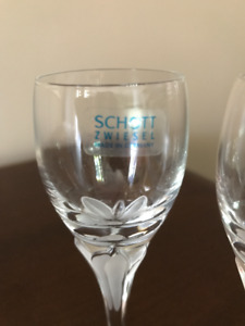 Crystal cordial glasses by Schott Zwiesel