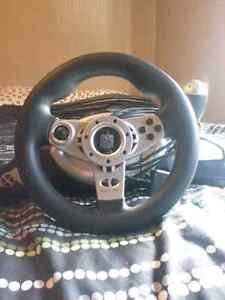 steering wheel and pedals Ps3