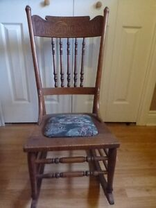 chaise bercante antique, antique rocking chair