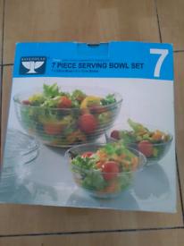 2 7 pieces serving bowl set £5 each 2 for £8