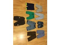 An assortment of baby pants