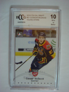 2015 ITG CHL Draft #21 Connor McDavid Young Stars BCCG Graded 10