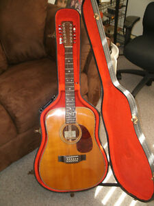 VINTAGE 1985 SIGMA, MARTIN SDR12-28H 12 STRING ACOUSTIC ELECTRIC