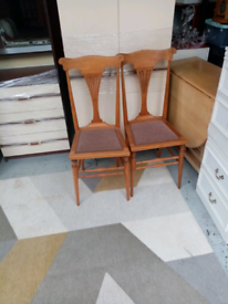 Antique hall chairs