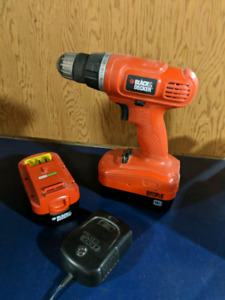 Black & Decker Drill with 2 Batteries