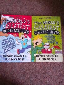 2 Hank Zipster Books worlds greatest underachiever