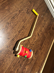 Baby/Toddler Wooden push and Pull Along Roller Toy