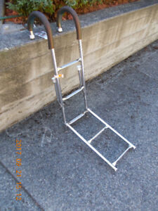 SS folding ladder w mounts (5 steps)