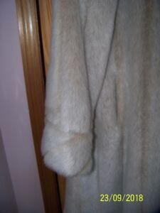 Faux Fur woman's long coat