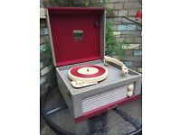 Dansette 'Junior' in classic 'Red and Check' Grey - Awesome!!