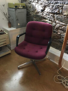 Vintage Red Steelcase Chair