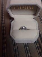 White gold 7 diamond engagement ring