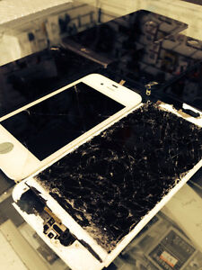Cracked Screens of IPHONES repaired here ! BEST PRICES GURANTEED