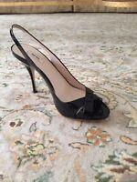 Miu Miu Black Patten Sandals