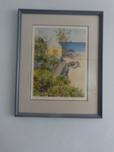 WINSLOW BEACH, BERMUDA SIGNED AND NUMBERED PRINT BY DIANA AMOS