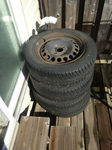 195/60/R15 4 All Season Tires, with Rims 4x100 $150 OBO