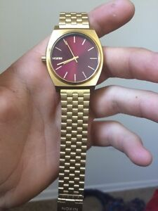 Gold plated Nixon watch worn once