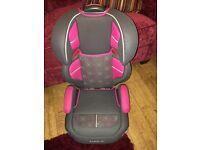 Graco pink girls car seat booster seat 15kg - 36kg