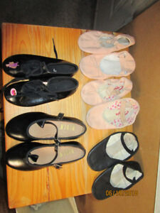 Child's ballet and tap shoes