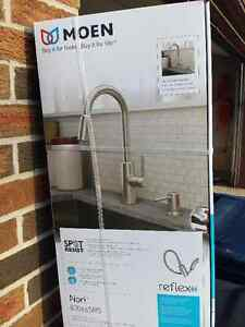 MOEN NORI STAINLESS BRUSHED KITCHEN FAUCET