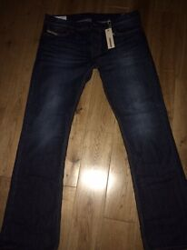 Diesel boot cut jeans 34/32 new with tags