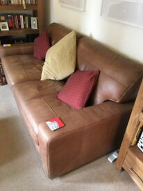 3 and 2 seater leather settees £350