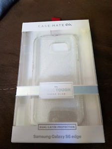 Samsung galaxy S6 edge case clear with glitter
