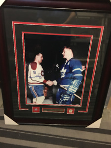 MAURICE RICHARD / TED KENNEDY AUTOGRAPHED 16X20