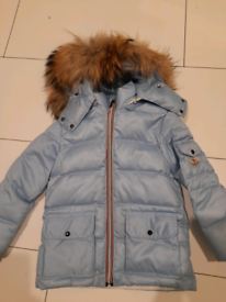 Girls age 14 16 cream moncler coat paid £600 from Depop