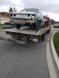 Scrap car removal and flat bed towing (light duty)
