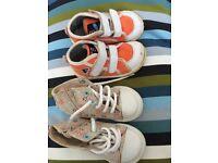 NEW OBAÏBI BABY GIRL FLORAL HIGHTOPS BONUS FREE ITALIAN FALCOTTO TRAINERS